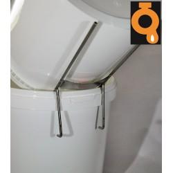 Stainless steel bucket rack