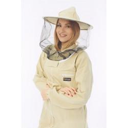 Kombinezon pszczelarski z kapeluszem zapinany na suwak