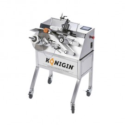 Labeling machine semi automatic - 1 labeling station, non round jars